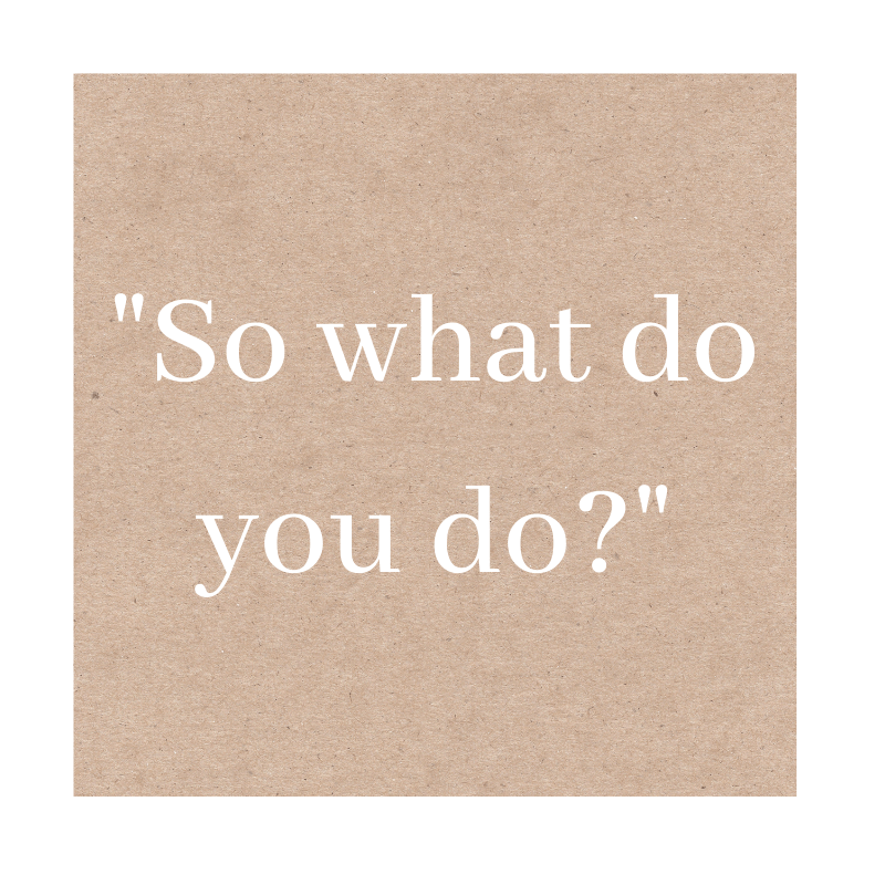 So what do you do?