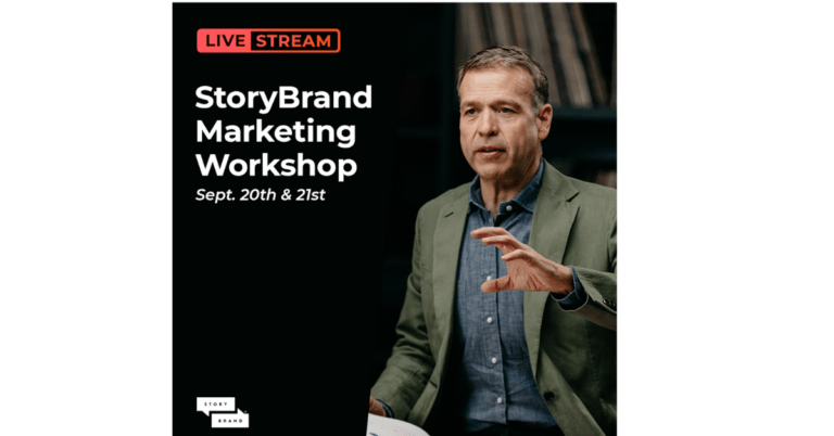 Want a Free Seat to StoryBrand's LiveStream Workshop – Monday & Tuesday September 20-21st, 2021?